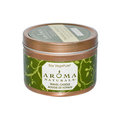 Aroma Naturals Soy VegePure Travel Candle Meditation Patchouli and Frankincense - 1 Candle