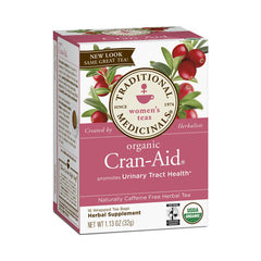 Traditional Medicinals Organic Cran-Aid - Caffeine Free - Case of 6 - 16 Bags