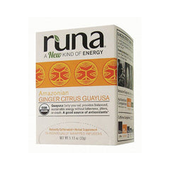 Runa Tea Organic Ginger Centers Guayusa Tea - Case of 6 - 16 Bags