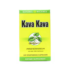 Natural Balance Kava Kava Root - 450 mg - 60 Vegetarian Capsules