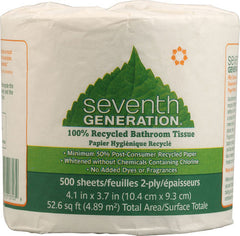 Seventh Generation Bathroom Tissue - 2 ply 500 sheet roll - Case of 60