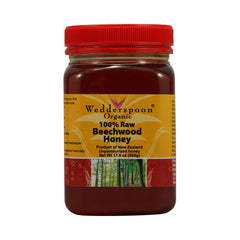 Wedderspoon Organic Raw Beechwood Honey - 17.6 oz