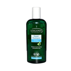 Logona Naturkosmetik Repair Shampoo for Dry Damaged Hair - Gingko - 8.5 oz