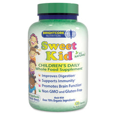 Sweet Wheat BrightCore Nutrition Sweet Kid Green Superfoods and Probiotic Blend - 120 Caps