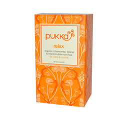 Pukka Herbal Teas Relax - Caffeine Free - Case of 6 - 20 Bags