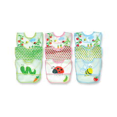 Green Sprouts Waterproof Bibs - Garden Print - 3 Pack