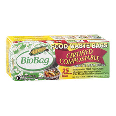 BioBag 3 Gallon Compost-Waste Bags - 25 Count