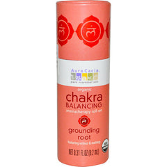 Aura Cacia Organic Chakra Balancing Aromatherapy Roll-on - Grounding Root - .31 oz