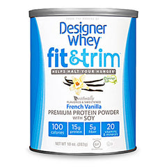 Designer Whey Protein Powder - Fit and Trim Premium French Vanilla Soy - 10 oz