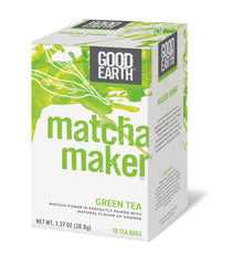 Good Earth Matcha Maker Tea - Case of 6 - 18 Bags