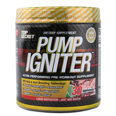 Top Secret Nutrition Pump Igniter - Pre Workout Cherry Limeade - 30 Servings