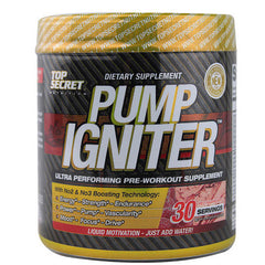 Top Secret Nutrition Pump Igniter - Pre Workout Red Raspberry - 30 Servings