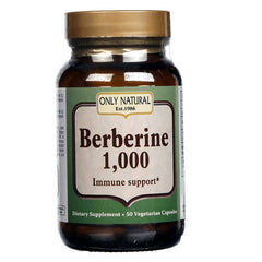 Only Natural Berberine - 1000 mg - 50 Vegetarian Capsules