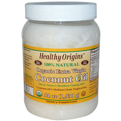 Healthy Origins Coconut Oil - Organic Extra Virgin - 54 oz