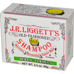 J.R. Liggett's Old Fashioned Bar Shampoo Counter Display - Herbal Formulal - 3.5 oz - Case of 12