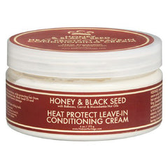 Nubian Heritage Conditioning Cream - Heat Protect Leave In Honey and Black Seed - 6 oz