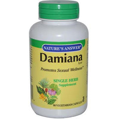 Nature's Answer Damiana Leaf - 90 Vegetarian Capsules