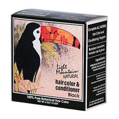 Light Mountain Natural Hair Color and Conditioner Black - 4 fl oz