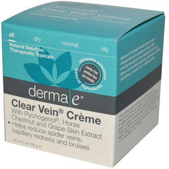 Derma E Clear Vein Creme Spider Vein Bruise Solution - 2 oz