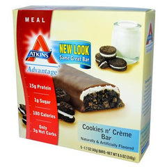 Atkins Advantage Bar Cookies n' Creme - 5 Bars