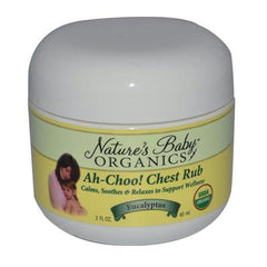 Nature's Baby Organics Ah-Choo Chest Rub Eucalyptus - 2 oz