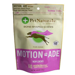 Pet Naturals Of Vermont Motion Ade MSM Chews for Dogs and Cats - 60 Chew