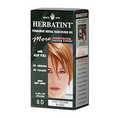 Herbatint Permanent Herbal Haircolour Gel 8D Light Golden Blonde - 135 mL