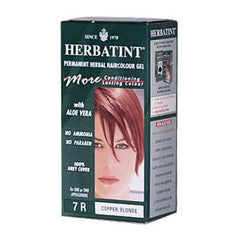 Herbatint Permanent Herbal Haircolour Gel 7R Copper Blonde - 135 mL