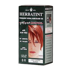 Herbatint Permanent Herbal Haircolour Gel 8R Light Copper Blonde - 135 mL