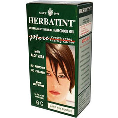 Herbatint Permanent Herbal Haircolour Gel 6C Dark Ash Blonde - 135 mL