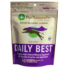 Pet Naturals of Vermont Daily Best Multivitamin For Dogs and Puppies Chicken Liver - 45 Soft Chews