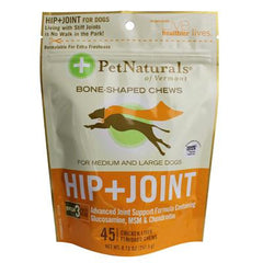 Pet Naturals of Vermont Hip and Joint for Medium and Large Dogs Chicken Liver - 45 Soft Chews