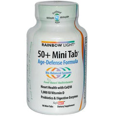 Rainbow Light 50 Plus Mini-Tab Age-Defense Formula - 90 Tablets