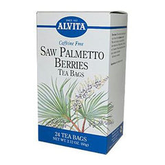 Alvita Caffeine Free Tea Saw Palmetto Berries - 24 Tea Bags