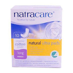 Natracare Natural UItra Pads Organic Cotton Cover - Long - 10 Pack