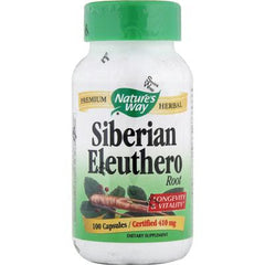 Nature's Way Siberian Eleuthero Root - 100 Capsules