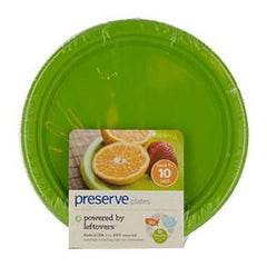 Preserve Small Reusable Plates - Apple Green - Case of 12 - 10 Pack - 7 in