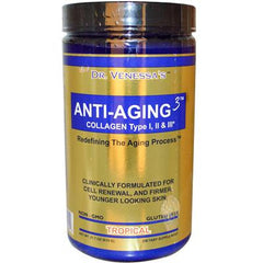 Dr. Venessa's Anti-Aging 3 Collagen Type I and II Tropical - 600 g