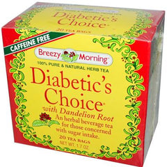 Breezy Morning Diabetic's Choice with Dandelion Root - 20 Tea Bags