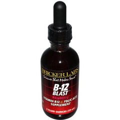 Bricker Labs Blast B12 Vitamin B12 and Folic Acid - 2 fl oz