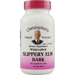 Christopher's Slippery Elm Bark - 425 mg - 100 Vegetarian Capsules