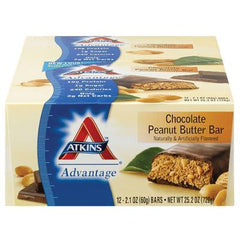 Atkins Advantage Bar - Chocolate Peanut Butter - Case of 12 - 2.1 oz
