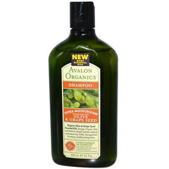Avalon Organics Moisturizing Shampoo Olive and Grape Seed Fragrance Free - 11 fl oz
