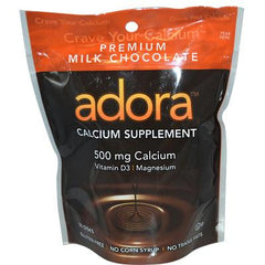 Adora Calcium Supplement Milk Chocolate - 500 mg - 30 Chewables - Case of 12