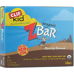 Clif Kid Organic ZBar Chocolate Brownie - 6 Bars - Case of 6