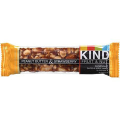 Kind Fruit and Nut Bars Bar Pnut Btr and Strawberryry - Case of 12 - 1.4 oz
