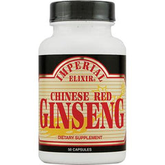 Imperial Elixir Chinese Red Ginseng - 500 mg - 50 Capsules