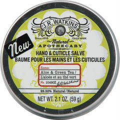 J. R. Watkins Hand and Cuticle Salve Aloe and Green Tea - 2.1 oz