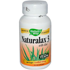 Nature's Way Naturalax 3 with Aloe - 100 Vegetarian Capsules