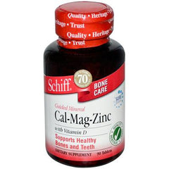 Schiff Guided Mineral Cal-Mag-Zinc with Vitamin D - 90 Tablets